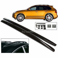 For 03-10 Porsche Cayenne OE Style Roof Rack Rail Mount Black Aluminum