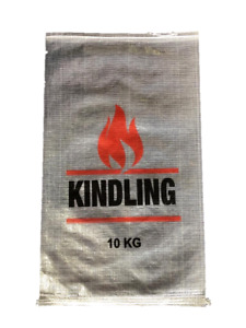 PACK OF 100 - WOVEN POLYPROPYLENE - TRANSPARENT 10KG KINDLING BAGS - 45x75 CM
