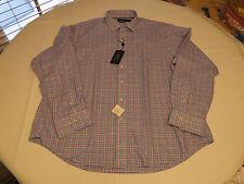 Ralph Lauren Mens XXL blue pink classics 539001 cotton plaid button up Shirt