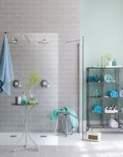 Tile Samples: New York XL Flat Gloss Light Grey Metro Wall Tiles 10 X 30cm