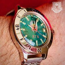 Vostok Amphibia Komandirskie KGB Dial 120 Case Like New! 2409 movement