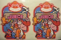 Nintendo Donkey Kong Jr Arcade Game Side art decal set