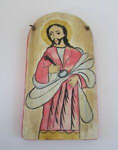 New Mexico Folk Art Retablo San Pedro Nico Preciado 1996