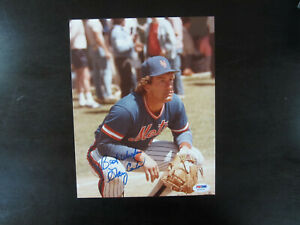 Gary Carter Autograph Signed 8 X 10 Photo PSA/DNA New York Mets