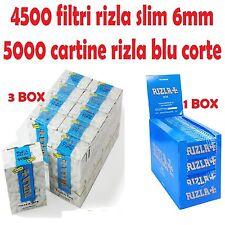 4500 FILTRI RIZLA SLIM 6 mm + 5000 CARTINE RIZLA BLU CORTE