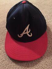 Atlanta Braves hat size 7 3/8 Authentic Collection New Era Cap Co