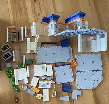 Playmobil 4404 Hospital LOT of  Walls Windows Doors Clinic Sign Misc Accessories