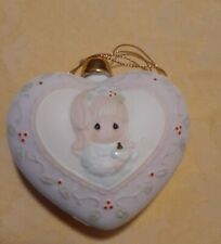 Precious Moments The Most Precious Gift of All 1996 Porcelain Heart Ornament