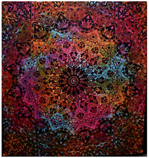 Indian Mandala Tapestry Wall hanging Star Rainbow Tapestries Hippy Boho Cotton