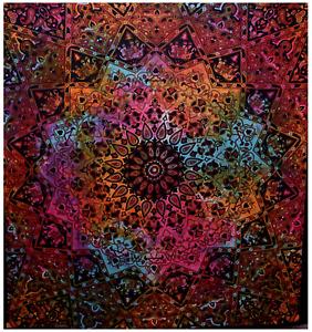 Indian large gypsy mandala tapestry wall hanging star rainbow hippie tie dye uk