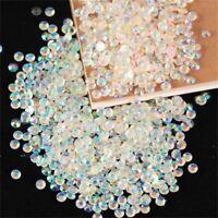 1000pcs Shiny 4mm Acrylic Nail Art Glitter AB Rhinestone Crystal Flatback Beads