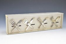 Pier 1 Silverware Napkin Rings Fork Knife Silverplated- Set of 4