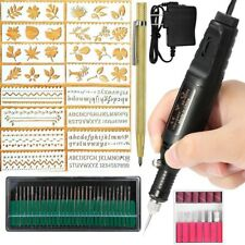 Electric Engraver Pen,Engraving Tool Kit for Metal Glass Stones Ceramic Pl F5D4