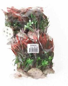 "AQUATOP PLANT PLANT 12PK SM 4"" RED & GREEN ORNAMENT DECORATION. FREE SHIP IN USA"