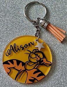 Winnie the Pooh, Tigger! Disney personalised keyring. Handmade novelty gift!
