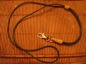 HANDCRAFTED LEATHER  WHISTLE LANYARD  (green)