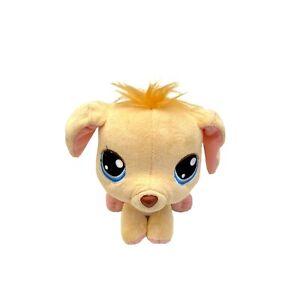 Littlest Pet Shop LPS Golden Retriever Lab Dog Plush Stuffed Animal Bobble Head