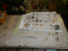 BIG LOT 1960's VINTAGE & Other JEWELRY  1 Italy 925 Necklace 50 Peices & Holder