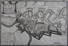CARTE de SEDAN, originale du XVIII ème , 1703