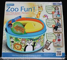 The First Years Zoo Fun 3-in-1 Potty System Trainer new