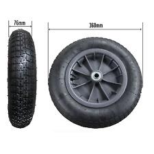 """14"""" PNEUMATIC WHEELBARROW WHEEL 16MM BEARINGS 3.25/3.00-8 tyre launching trolley"""