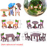 Table and Chairs  Mini Ornaments Dollhouse Accessories Fairy Garden Landscape