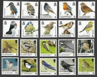 Birds -Guernsey(2021) & Alderney(2020)  all values to 10p  mnh