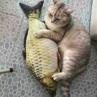 Cat Wagging Fish Realistic Plush Realistisches Katzenspielzeug Katzenminze Z7Z1