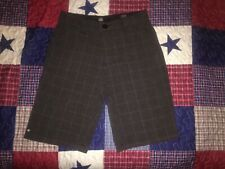 Micros Boy's Walking Shorts Size 14 Charcoal Gray Plaid Excellent Condition