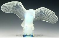 Lalique France Opalescent Crystal Figurine EAGLE WITH OUTSPREAD WING Mint Rare!
