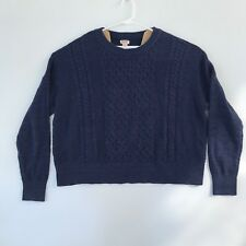 Mossimo Boys Navy Blue Cable Knit Long Sleeve Sweater Size XXL NWT Cotton Blend