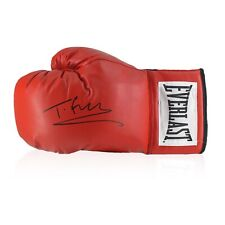 More details for tyson fury signed red boxing glove | autographed memorabilia
