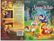 Vhs * Snow White and the Seven Dwarfs * 1937 Walt Disney's Original Masterpiece!