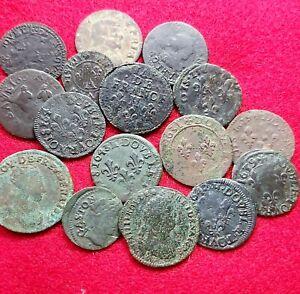 Lot Monnaies Royales - Doubles Tournois, Deniers,Liard De France (voir descrip )