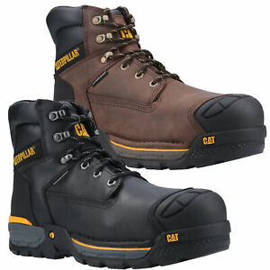 Mens Caterpillar Excavator Composite Toe S3 Work Safety Boots Sizes 7 to 12