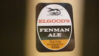 OLD BRITISH BEER LABEL, ELGOODS BREWERY WISBECH ENGLAND, FENMAN ALE 9 Oz 2