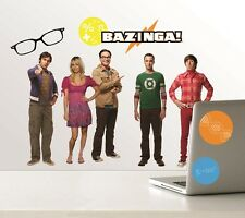 The Big Bang Theory Cast & Logos Peel & Stick Wall Stickers Decals Appliques NEW