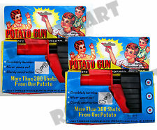 (2) TWO Classic Potato Guns Shoots Harmless Potato Pellets Ages 3 & Up RM2076