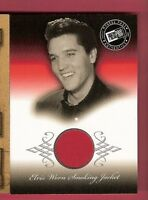 ELVIS PRESLEY RELIC MEMORABILIA WORN RED SMOKING JACKET CARD 2002 PRESS PASS