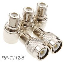 5-Pack F Female Jack to TNC Male Plug RF Adapter, CablesOnline RF-T112-5