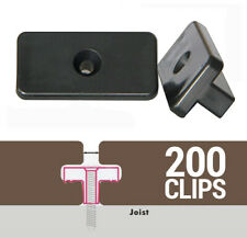 More details for 200 composite decking clips hidden fixings t clips plastic fasteners 200 bag