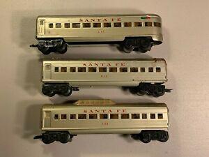 Marx Santa Fe Lighted Passenger Set for Parts/Refurb 3152, 3197, Dome car
