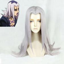 Anime JoJo's Bizarre Adventure Leone Abbacchio Long Cosplay Hair Wig + Wig Cap