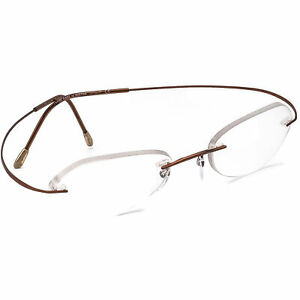 Silhouette Eyeglasses 7766 40 6360 Copper Rimless Metal Frame Austria 48[]19 135