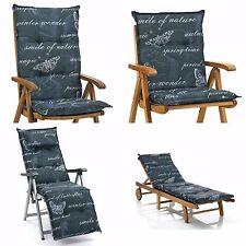 gartenm bel auflagen mit naturmuster gartenliege deckchair g nstig kaufen ebay. Black Bedroom Furniture Sets. Home Design Ideas
