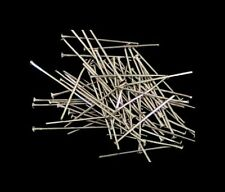 100 Pcs -  16mm Silver Coloured Head Pins Jewellery Bead Findings Craft E99