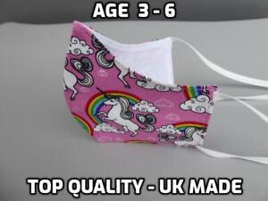 KIDS children 100% Cotton face mask washable high quality double layer reusable