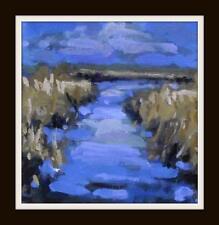 LAKE Reed LETTI 2: ORIGINALE IMPRESSIONISTA pittura ad olio su tela Shaun VINEY