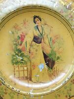 Assiette Tôle Peinte Napoléon III 19th Chinoise Asie Plate Painting  Chinese XIX
