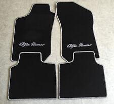 Autoteppich Fußmatten für Alfa Romeo 145 146 schwarz silber 4teilig Neuware